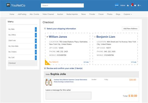 section bootstrap v4 auction younetco phpfox apps themes development