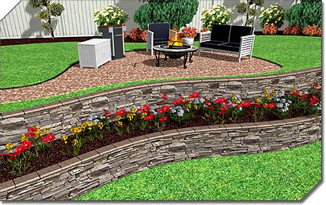Terracing A Sloped Backyard Professional Landscape Software