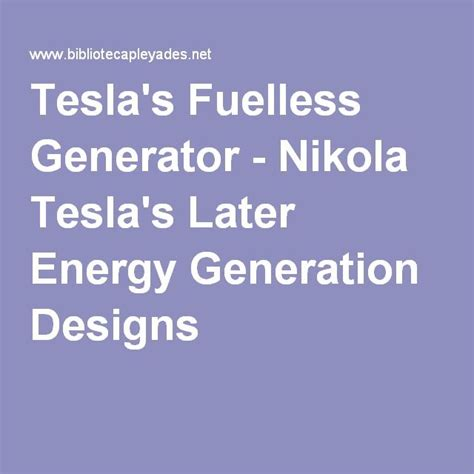 Tesla Fuelless Generator 17 Best Images About The Fued On George