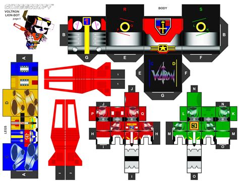 Voltron Papercraft - voltron cubeecraft xl pt1 by randyfivesix on deviantart