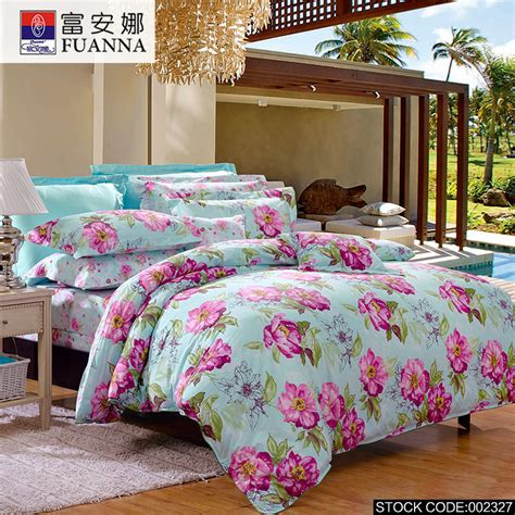cheap bed sheet sets fuanna 4pcs cheap printing bedding set bed linen bed set sheet duvet cover pillowcase