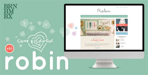 blogger themes colorful robin cute colorful blog theme themekeeper com