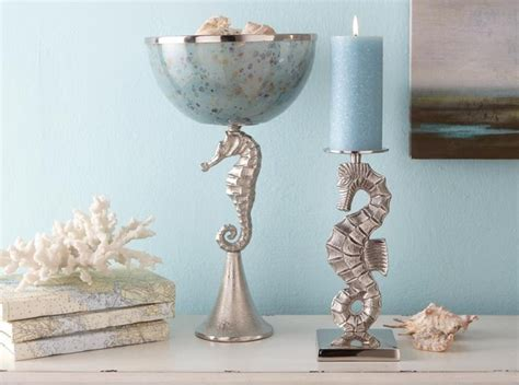 home decor candle holders and accessories seahorse accessories tropical