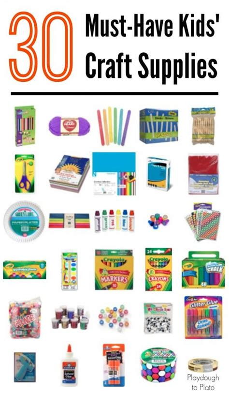 craft supplies for 30 must craft supplies playdough to plato