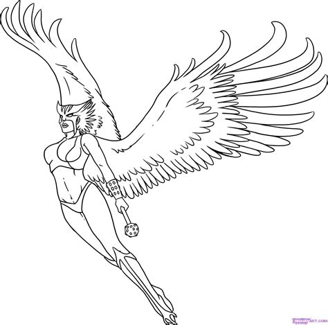 how to draw hawkgirl step by step dc comics comics