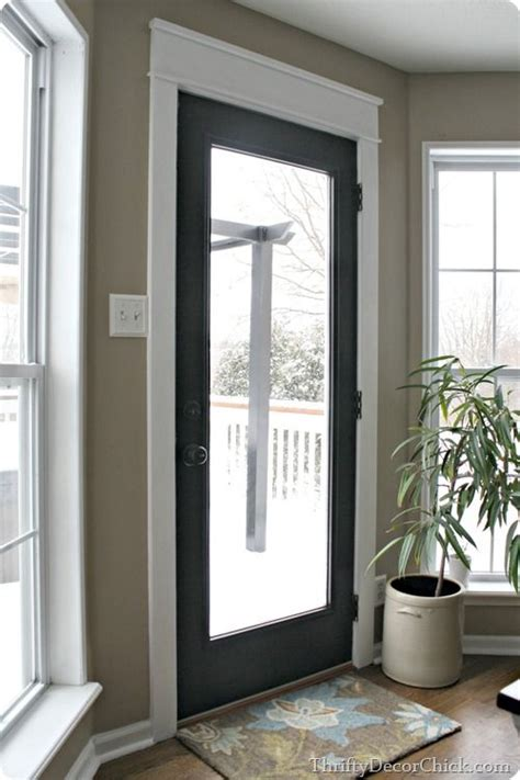 My New Black Door With White Craftsman Trim My Home Black Interior Doors With White Trim