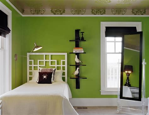 black and lime green bedroom bed room kids in lime green interiors by color