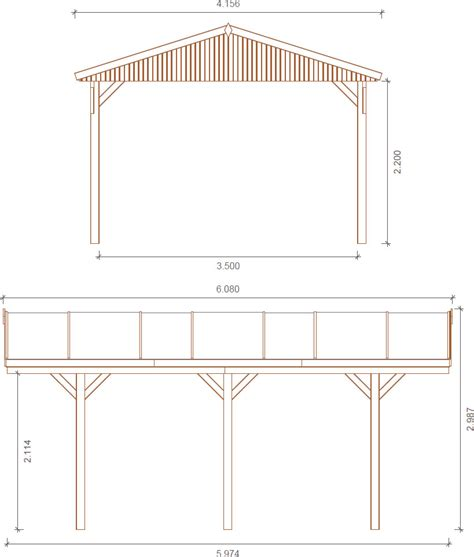 Carport Dimensions by Apex Roof Carport