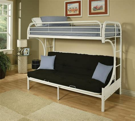 Metal Bunk Bed Frame With Futon Bedroomdiscounters Bunk Beds Metal