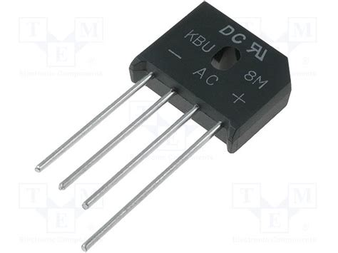 dc diode kbu8m dc components single phase rectifier bridge tme electronic components