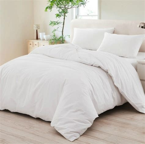 Plain White Comforter Set by Snow White 100 Cotton Plain Style Hotel Motel Bedding Set