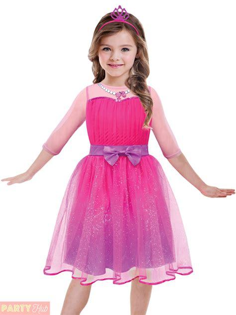 Dress Kid Pink princess costume pink fancy dress outf ebay