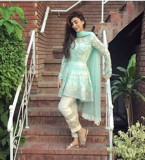 latest designs pakistani fashion short frocks  capris