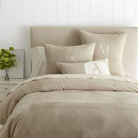 Pintuck Duvet Cover Chambray Pintuck Duvet Cover Sham And Graham