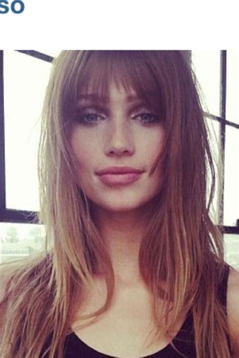 Bang Frame Face   long hair with bangs face framing but not the big