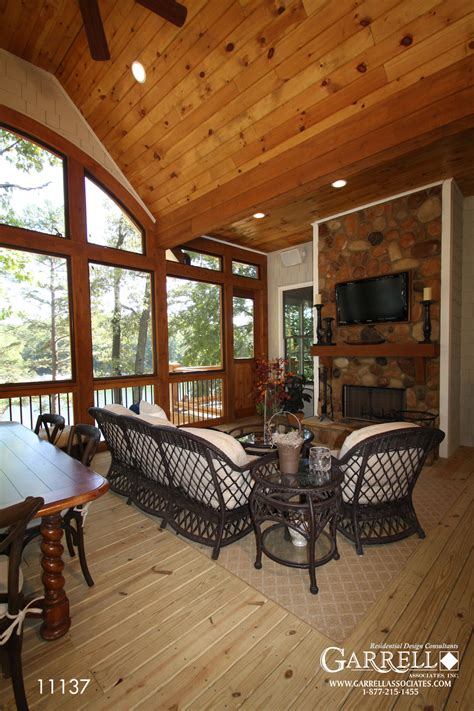 cottage floor plans with screened porch walkers cottage house plan house plans by garrell