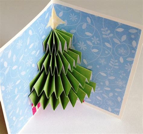 christmas tree pop up card twiggynest