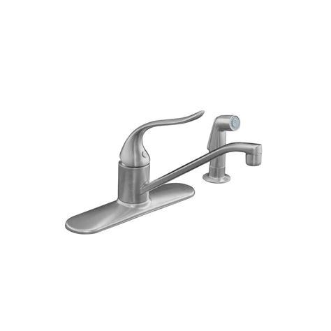 kohler coralais kitchen faucet kohler coralais single handle standard kitchen faucet in brushed chrome k 15172 f g the home depot