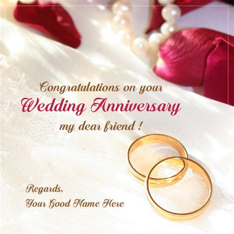 Congratulation Wishes For Wedding Anniversary by Write Name On Image Picture Editor