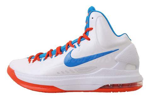 thunder basketball shoes nike kd v 5 okc thunder home kevin durant mens basketball