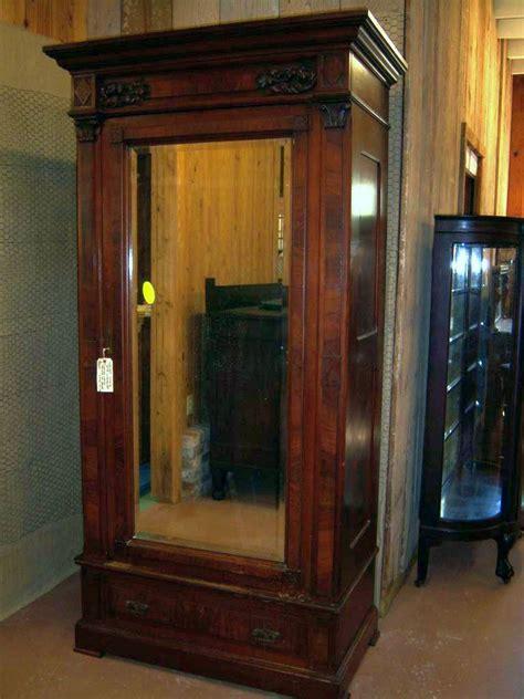 Single Mirror Closet Door Walnut Eastlake Wardrobe Single Beveled Mirror Door From Robertsantiques On Ruby