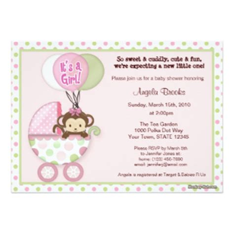 baby shower invites canada monkey baby shower invitations announcements zazzle canada