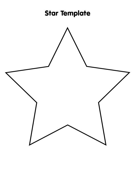 Printable Star A4 | large star template to print cliparts co