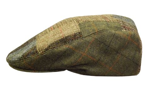 Tweed Patchwork - wool tweed patchwork cheesecutter hats