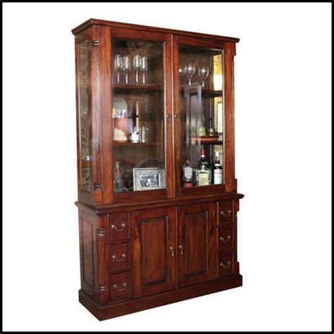 Modern Display Cabinets With Glass Doors La Roque Mahogany 2 Glass Door Display Cabinet With Sideboard Buy Modern Display Cabinet