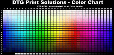 rgb colors dtgps color chart adobe rgb color profile dtg print