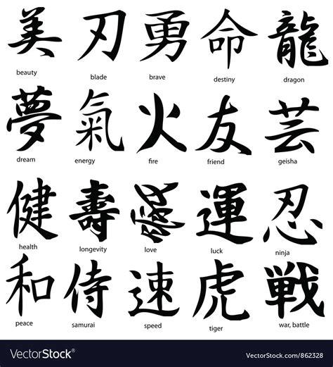 kanji royalty free vector image vectorstock
