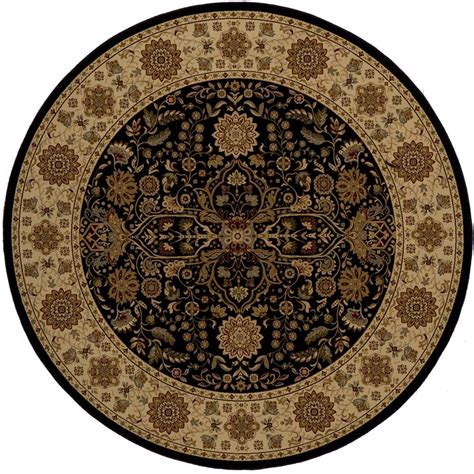 Orian Rugs Como Bisque 7 Ft 10 In Round Area Rug 238587 10 Foot Rug