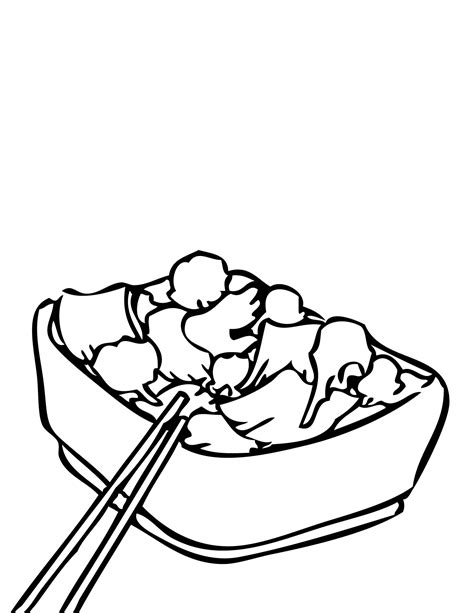 94 printable food coloring pages broccoli beef