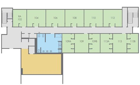 c humphreys housing floor plans floor plan regan hall paloma building first floor