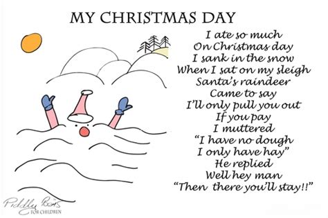 christmss preschool poems poems santa poems