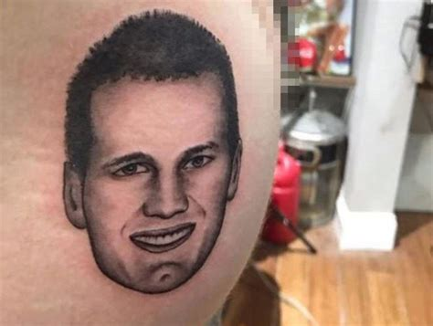 crazy patriots fan got tom brady s face tattooed on his