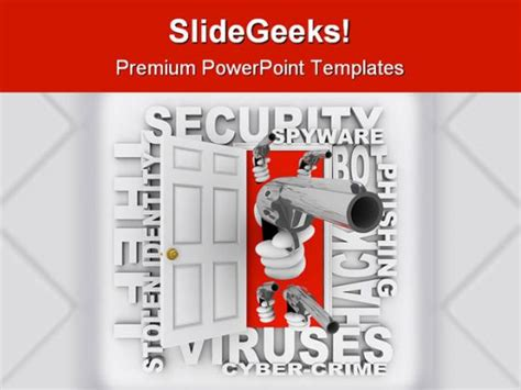 Cyber Crime Security Powerpoint Template 0810 Cyber Security Ppt Template