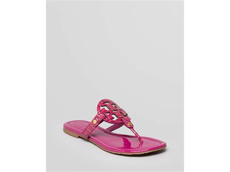 burch pink sandals burch sandals miller in pink fuchsia lyst