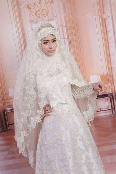 desain gaun syari 15 inspirasi gaun pernikahan syar i ini bisa dicontek
