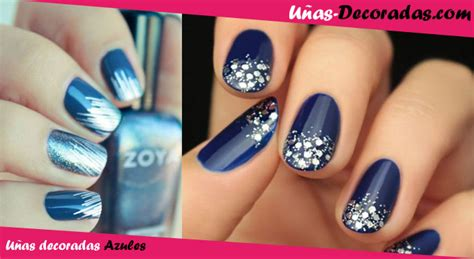 imagenes de uñas de acrilico azul marino u 241 as decoradas en azul dise 241 os fotos y consejos