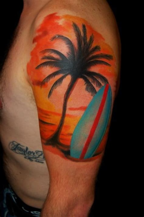 surf sleeve tattoo designs 100 surf tattoos designs for boys and