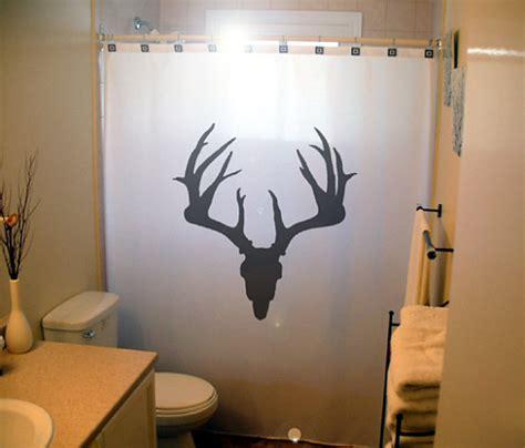 Deer Bathroom by Deer Skull Shower Curtain Antlers Hunt Bathroom