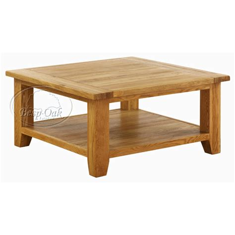vxa015 vancouver oak square coffee table with shelf