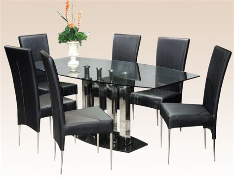 clear glass top steel base modern dining table woptional