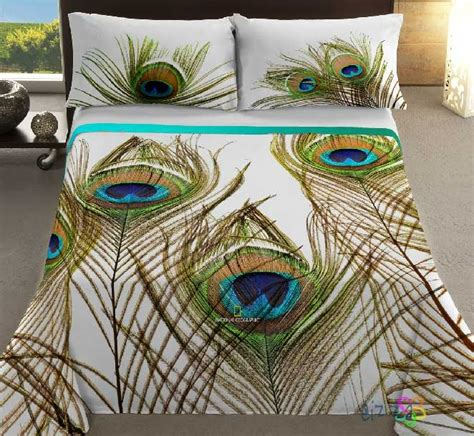 peacock feather comforter set cubre dual ng pavo real peacock feather bedding pillow