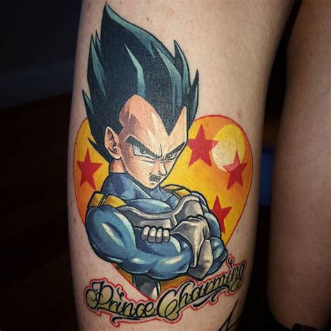 happy snap of vegeta tattoo by troy slack