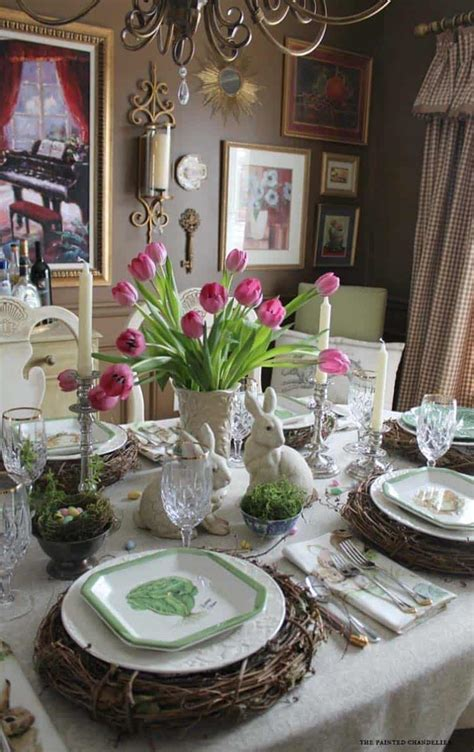 incredibly stylish  inspiring easter table