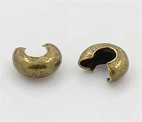 crimp bead covers 4mm crimp bead covers antique brass golden age