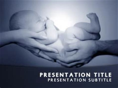 Royalty Free Baby Powerpoint Template In Blue Free Baby Powerpoint Templates