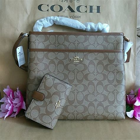 Coach Set Pouch 7105 Bordirpermata 53 coach handbags nwt coach file bag purse crossbody w wallet set from s closet on